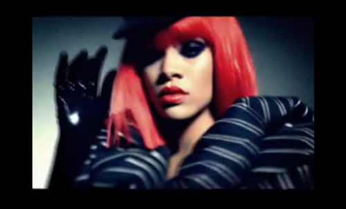 Rihanna's 'Rock Star' Video Preview Not to be outdone by Lady Gaga or Christina Aguilera, in the clip of her upcoming music video for 'Rock Star', Rihanna reminds us all why she is a music and fashion sensation. The 28-second preview of the song from her new 'Rated-R' album shows the smokey-eyed songstress in a dominatrix-inspired outfit complete with red wig and thigh-high stilettos.  Full story and video clip on StyleList after the jump.