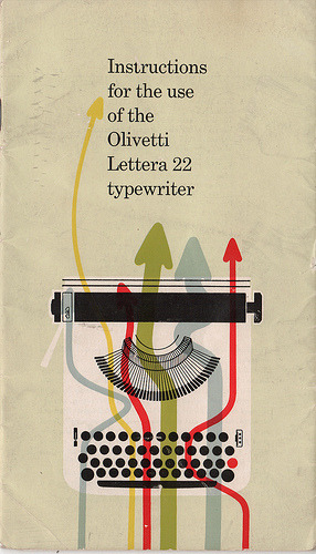 Olivetti Lettera 22 Instruction Manual (Flickr | edcornish) [via Design Dig]