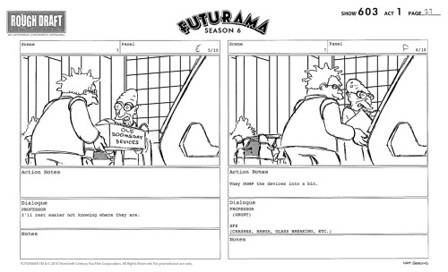 comedycentral:  Countdown to Futurama: Doomsday Devices Storyboards New episodes start five weeks from today.