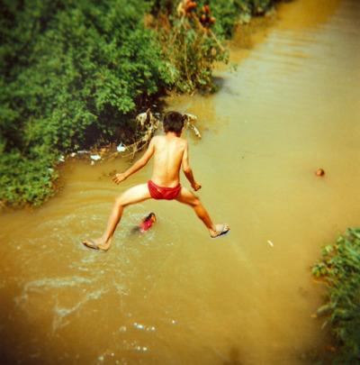 We jump.