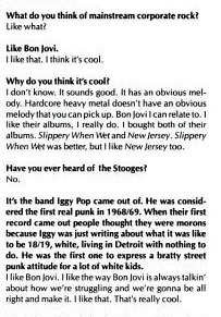 meltzer:  Kim Gordon's awkward interview with L.L. Cool J in Spin circa 1989.