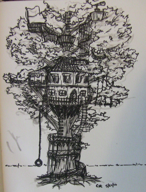 Spent a lovely afternoon in Cafe Helios today drawing tree house designs for a project I'm working on with Kurt.