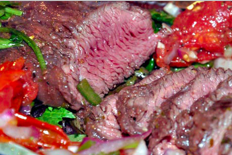 easyfastcheapcooking:  simplerecipes:  Tequila Lime Flank Steak 1/2 cup freshly squeezed lime juice 1/2 cup blanca tequila 1 tsp ground cumin 1 tsp ground coriander 1 tsp chili powder 1 garlic clove, minced fine 1/2 cup finely minced fresh cilantro leaves and stems 1/4 cup canola or vegetable oil Freshly ground pepper 1-1/2 lb flank steak, trimmed In a large measuring cup or bowl, stir together first 7 ingredients, then whisk in the oil until combined. Season with pepper. Add steak to a baking dish large enough to hold it flat, and pour marinade over. Cover tightly with plastic wrap and refrigerate 4 hours. Heat your grill, and brush the grate with oil. Grill the steaks over high heat until done to your liking, 4-5 minutes a side for medium rare. Remove from grill and let rest for 5-10 minutes. via The Perfect Pantry