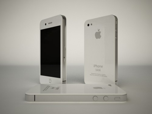 Render Shows iPhone In White (via asceticmonk)