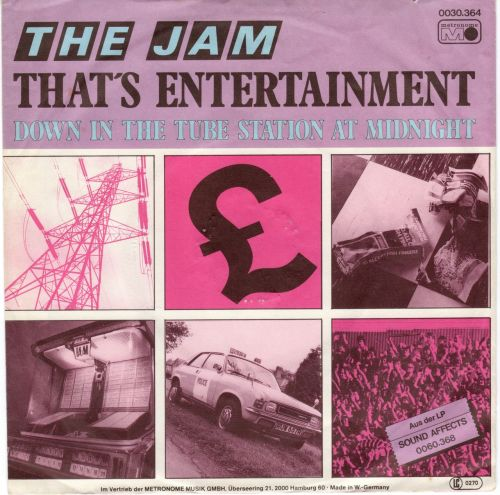 The Jam - That's Entertainment / Down In The Tube Station At Midnight (flicking through my singles)
