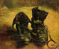 darksilenceinsuburbia:  Pair of Shoes by Vincent Van GoghXeürik: This world was never meant for one as beautiful as you.
