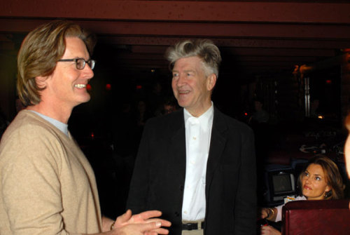 Kyle Maclachlan, David Lynch and Madchen Amick on the set of A Slice of Lynch, a conversation filmed for the Twin Peaks Gold Edition Box Set.