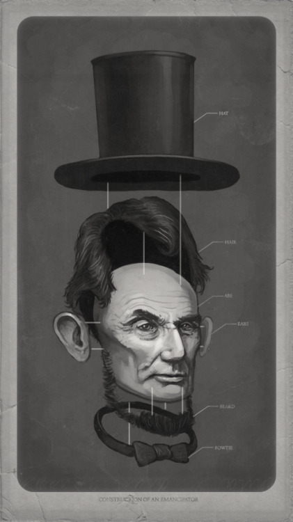 Mike Mitchell, Construction of an Emancipator (via archi-for-life) oh my god abe lincoln was actually jean-luc picard in disguise.