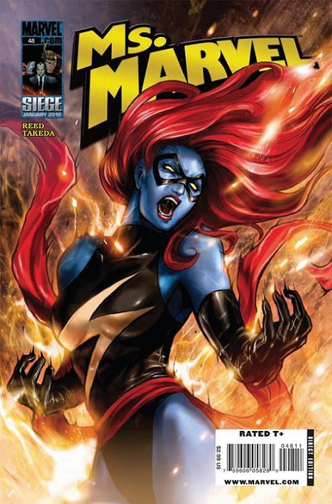 0724. Ms. Marvel v2 #48, February 2010, written by Brian Reed, penciled by Sana Takeda My Score: 7.9