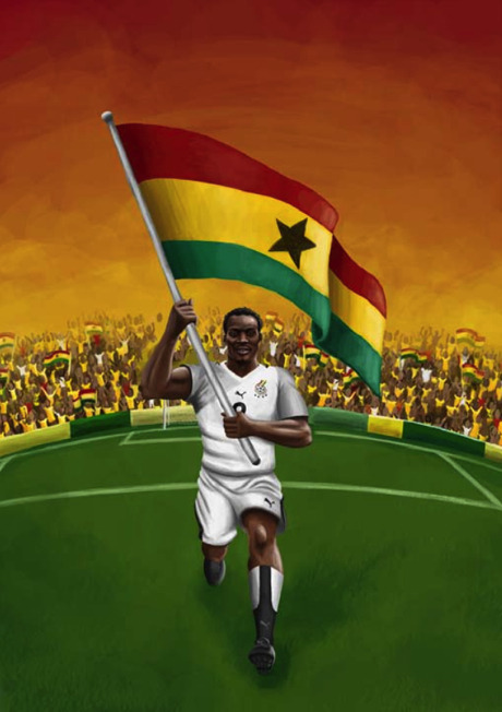 World Cup Fever Continues: Ghana - The Black Stars, by Am I Collective