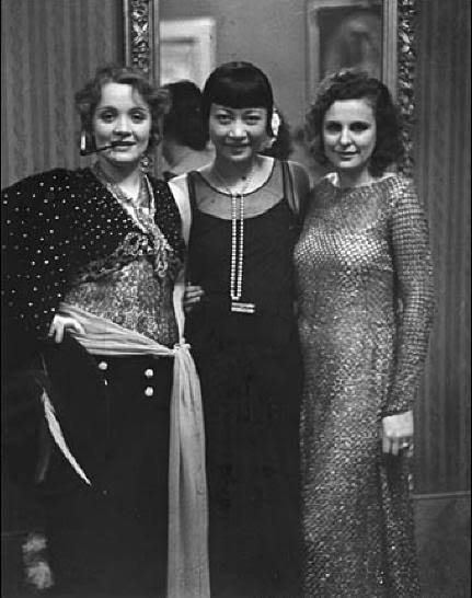 once again,famous trio:Dietrich,Leni and Anna May Wong by Eisenstaedt,Berlin,1928 from  adski_kafeteri: Icons
