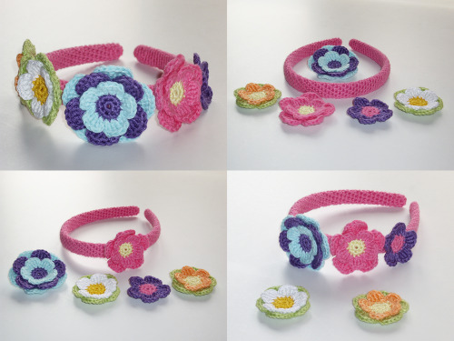 Variable Headband Barrette Bow Clip Set http://hegemony77.etsy.com