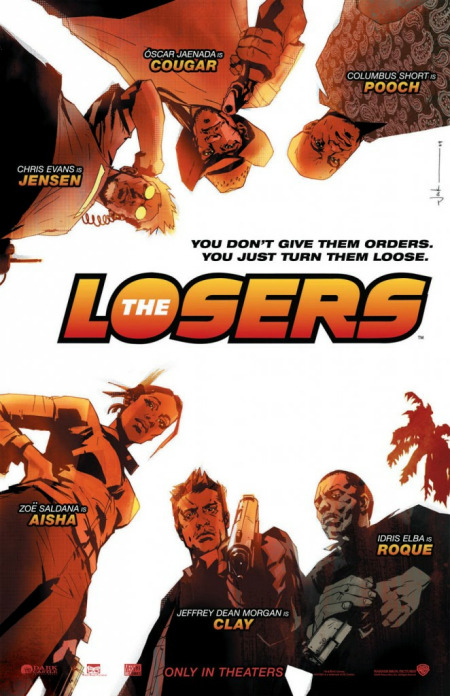 "The Losers (2010) After being betrayed and left for dead, members of a CIA black ops team root out those who targeted them for assassination. Based on the DC Vertigo comic of the same name. It felt like watching a ""comic book"" and for that i give it three thumbs up! This isn't an award winning film, but this will definitely satisfy comic book fans desire for action and just plain old fun. The casting is 99.9% amazing! dunno so much about the actor who played Max, he seemed like a weak villain. If it's action you want, go see this film! Nothing too deep and nothing too shallow. Wham! Bam! thank you for the action comic man! Comic books that this film reminded me of were: Team 7 (Image), Wet Works (Image), Punisher (Marvel), Danger Girl (Image) & Deathblow (Image). http://www.imdb.com/title/tt0480255/"