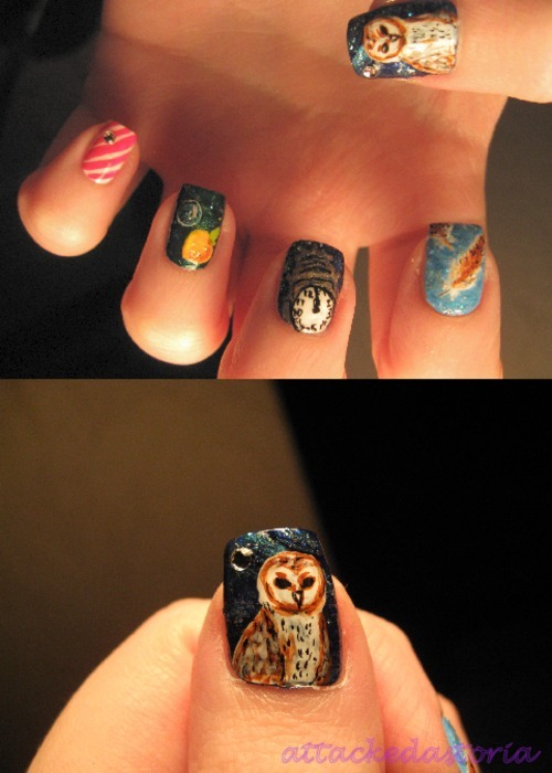 labyrinth inspired nails, take 1.