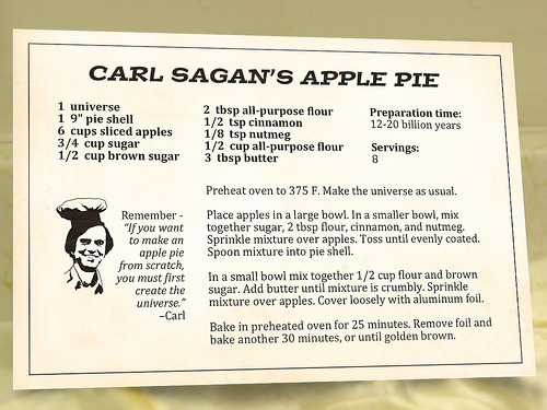 Carl Sagan's apple pieThanks to thefermenter