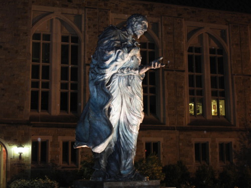 May 18, 2010: Statue of St. Ignatius Loyola, Boston College, Chestnut Hill, MA