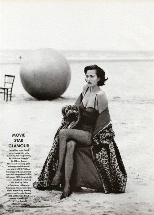 Tatjana Patitz for British Vogue
