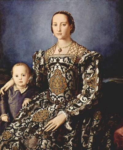Eleanor of Toledo by Angelo Bronzino, 1544-45