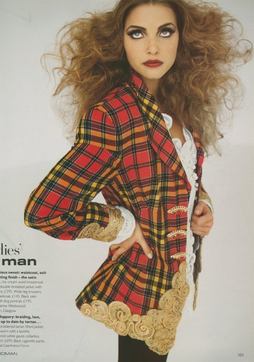 Nadja Auermann for British Vogue