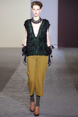 Marni- AW 2010/11  I love the colors in Marni's new show, but the shape and texture of the clothes are even better. They're so gorgeous and unique.