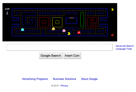 "Google Pac-Man Gobbles Up $120M of Work Time via TIME Newsfeed  Least surprising story of the week? The study released Tuesday showing that the playable version of the classic video game Pac-Man on Google's front  page has eaten up five million hours of work time. Since May 21, people around the planet have been celebrating 30 years of Pac-Man by playing Google's version on its homepage (which, as Techland pointed out, is pretty faithful to the original). But now the stats are available on just how many people played and for how long. And it makes for eye-watering reading.  Software firm Rescue Time, thanks to its time-tracking software, can observe where workers go online. Typically, the company suggests, about 22  daily searches on Google are conducted, each lasting around 11 seconds. By putting Pac-Man up, the average time shot up to around 36 seconds, the firm said based on the browsing habits of 11,000  Rescue Time users. And get this: Rescue Time reckons this is a relatively low figure because not everyone realized that to play, you had to  click on the ""insert coin"" button. If you apply the results of the above to the — gulp — 504 million unique users who  visit the main Google page each day, this is an increase of  4.8 million hours. That's, ahem, just under 550 years. As for lost productivity in dollar terms, by assuming that people are paid $25 an hour,  this equates to about $120m. So definite food — or in Pac-Man's case, pills — for thought when you need that gaming fix. And perhaps the next study released on wasted hours in the workplace will be based on the time spent reading articles such as these. Game over indeed."