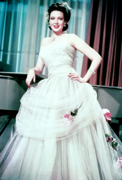 Linda Darnell and her awesome dress Circa:  1940s
