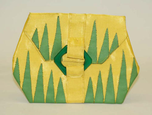A very art deco leather clutch purse from the late 1920s.
