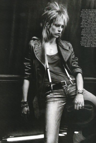 Girl Meet's Boy Raquel Zimmerman by David Sims for Vogue Paris June/July 2010 Styled by Emmanuelle Alt