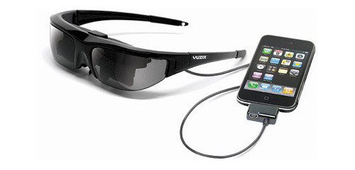 The Vuzix iWear enables the user to sit back and watch videos in their own private space. Not sure how these would go walking down the street, but a pretty nifty idea! Vuzix iWear
