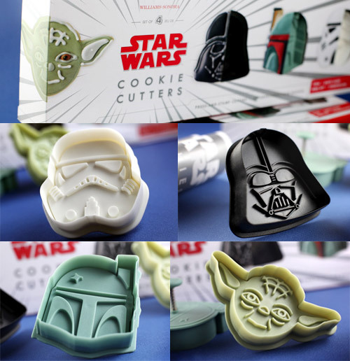 May the Cookies be with you! Pretty cool spin on the traditional Cookies. Again, this falls in the pretty darn cool basket! Star Wars Cookie Cutters