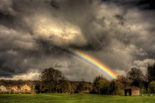 Rainbow at Golf Practice (by Feo David)