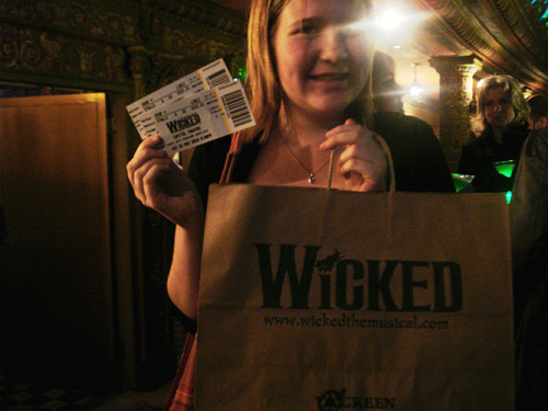Me very excitificated before Wicked last weekend!