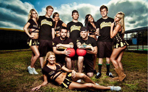 a day to remember have their own set of hot cheerleaders :D