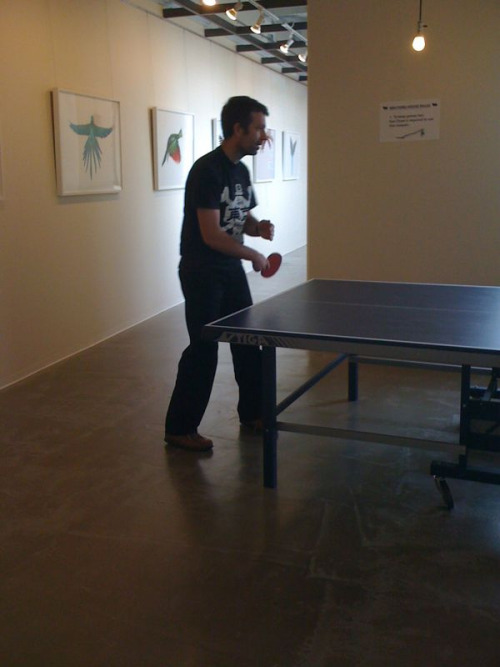 @malbonnington warming up for his big match…the atmosphere is intense…