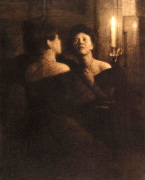 edwardianera:  Woman at Mirror by Heinrich Kuhn    This is me. I am this.