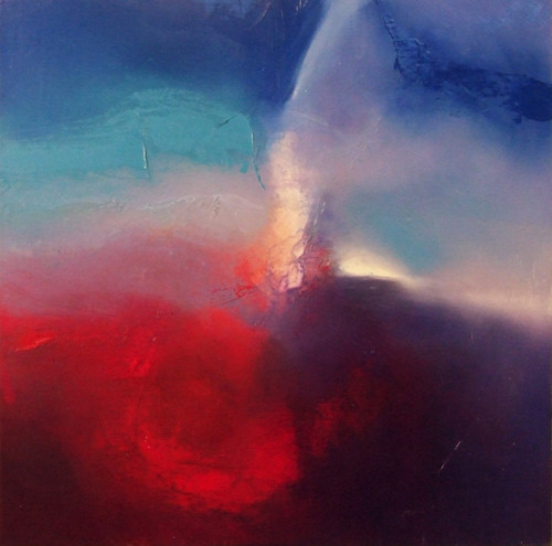 I am completely in awe of the abstract paintings by Robert Hart. The combinations of textures and colors is absolutely beautiful and make for an interesting airy/outer space/heavenly feel. I'd love to hang one in my home.