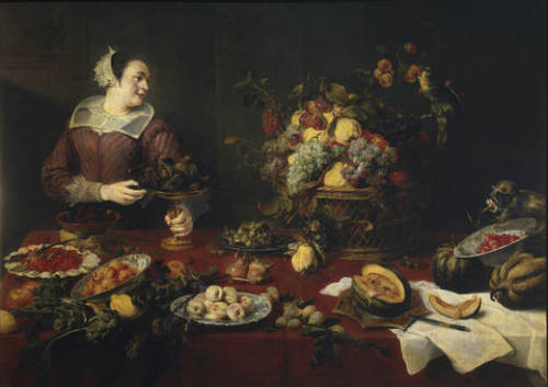 Frans Snyders The Fruit Girl 1633