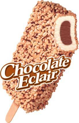 Chocolate Eclair Ice Cream Bars