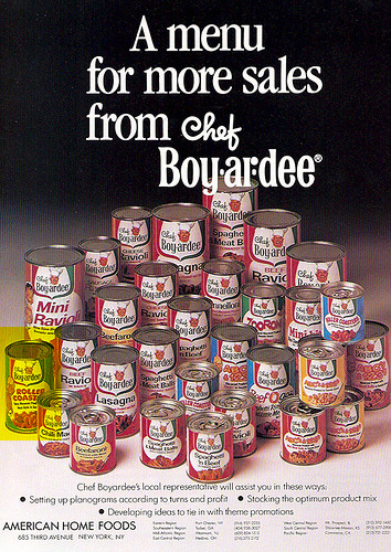 Chef Boyardee Roller Coasters (Remembered by Russ L.)