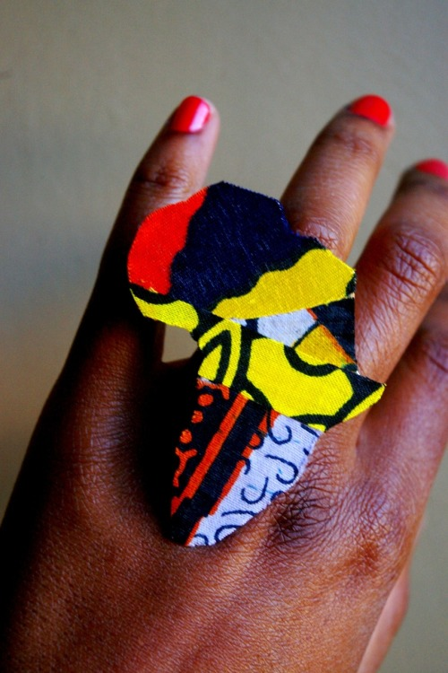 peaceimages:  wax africa rings available here  ________________________________________________ crack! i am copping one of these homie! camille u are always coming up with dope designs girl!