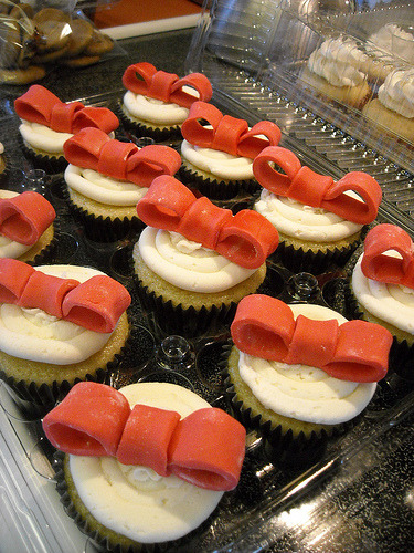 Red Ribbon Cupcakes