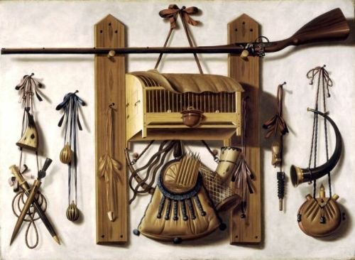 Johannes Leemans Still Life with Fowling Equipment 1682