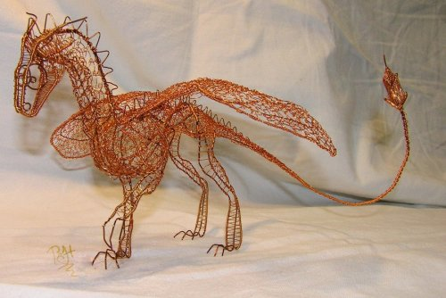 Dragon of wire 2 by ~Holymain Amazing !  See more of this artist work at http://holymain.deviantart.com/art/Dragon-of-wire-2-156279060 Till tomorrow .. keep creating !