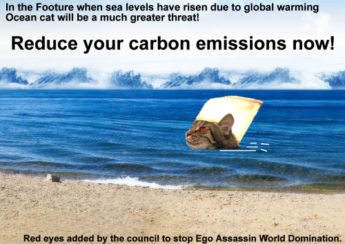 Fight global warming - Defeat Sea Cat!  Ego Assassin must be stopped!