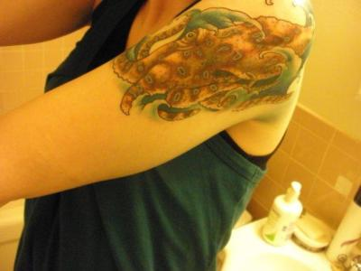 Blue-ringed octopus tattoo Submitted by Chelsey
