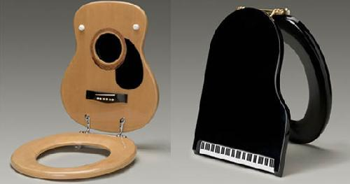 Music-Themed Toilet Seat - Would you buy it?
