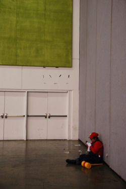 Fanime 2010 - Mario gaming alone :/