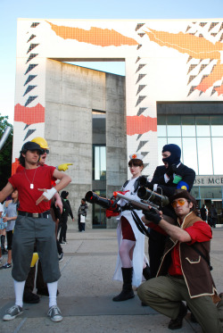 Fanime 2010 - Team Fortress 2 cosplayers at their finest. They were amazing, and had poses ready and everything.