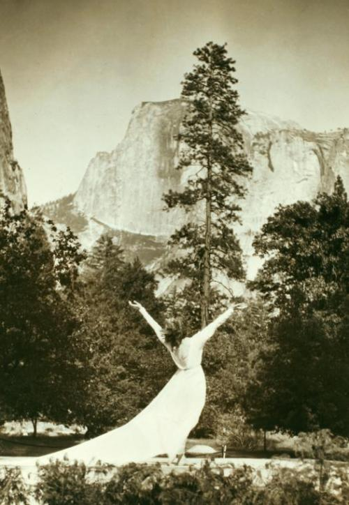 Ruth St. Denis at Yosemite Valley,1919-1920 via NYPL