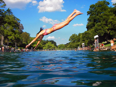 I just dove in this too! Barton Springs, Austin TX. Have A Summah!